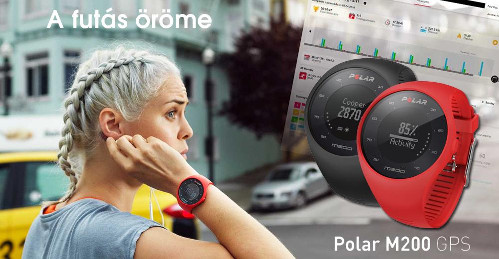 Polar M200 GPS pulzusmérő óra